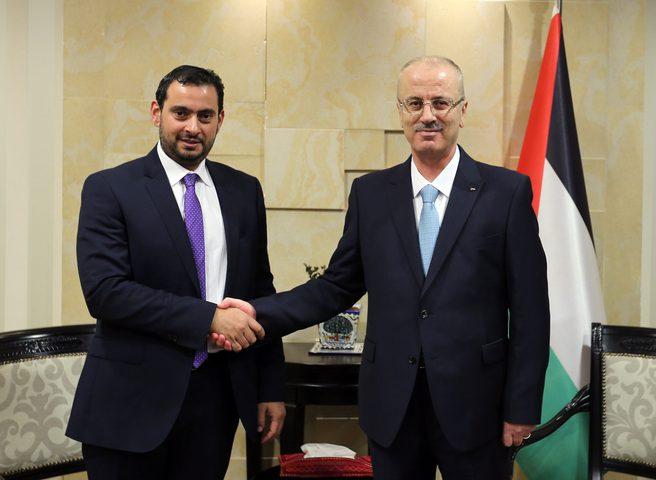 الحمد الله يستقبل وزير الصناعة والتجارة الأردني