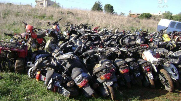 جنين: الوقائي يتلف 23 دراجة نارية غير قانونية
