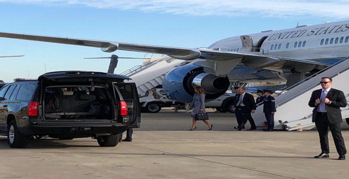هبوط اضطراري لطائرة ميلانيا ترامب