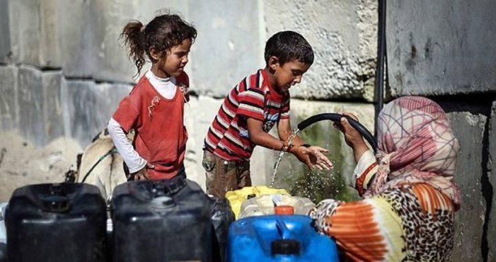 دراسة:99% من مصادر مياه غزة غير صالحة للشرب