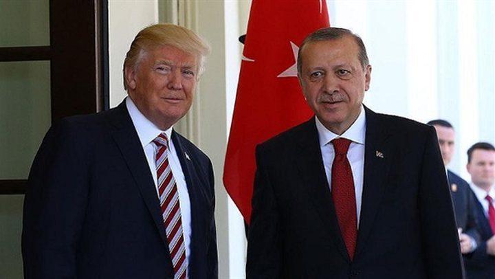 ترامب وأردوغان بحثا هاتفيا التطورات في سورية