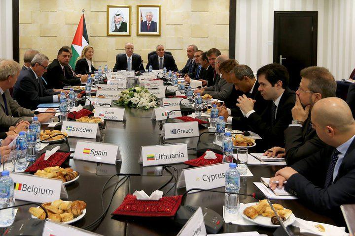 الحمدالله يستقبل قناصل وسفراء الاتحاد الأوروبي