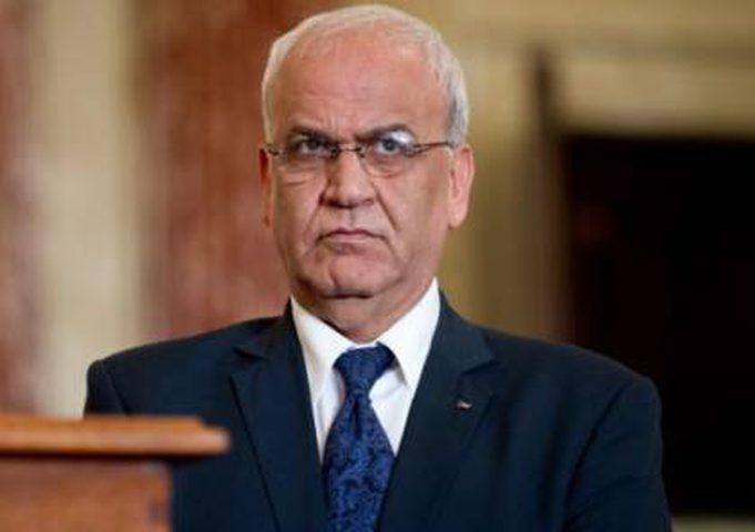 عريقات:شعبنا سيبقى متمسكا بحقوقه حتى زوال الاحتلال