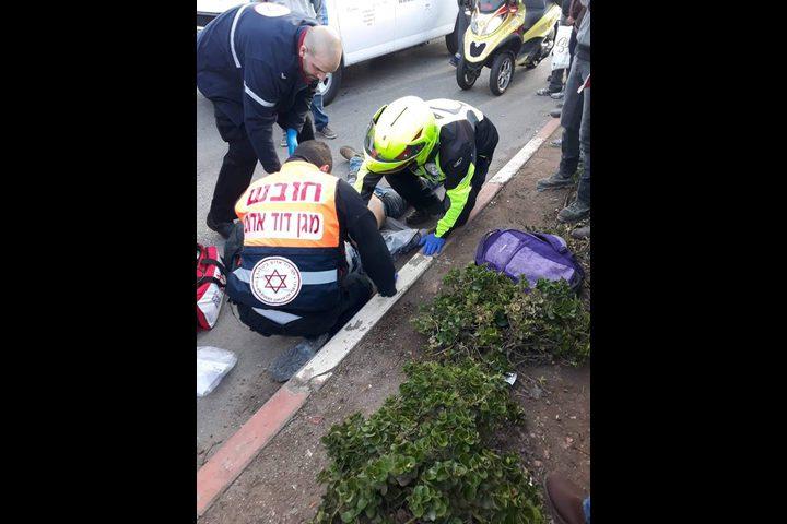 إصابة خطيرة لشاب إثر حادث سير على معبر الجلمة