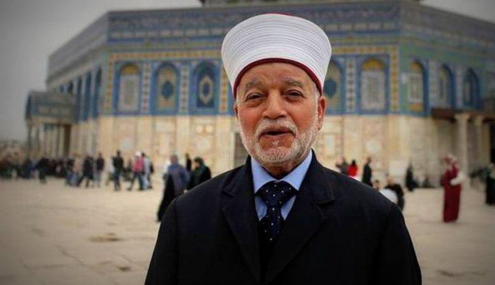 المفتي العام يحذر من عواقب اقتحامات المسجد الأقصى