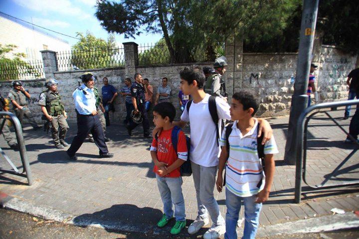اصابات جراء اعتداء المستوطنين على مدرسة