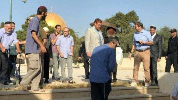 """المستوطن """"غليك"""" يقود اقتحامات جديدة للمسجد الأقصى"""