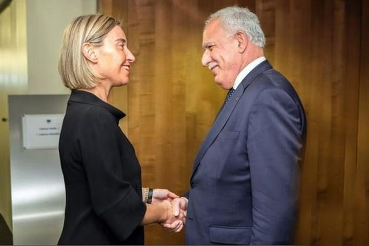 المالكي يلتقي موغريني وعدد من المسؤولين الأوروبيين
