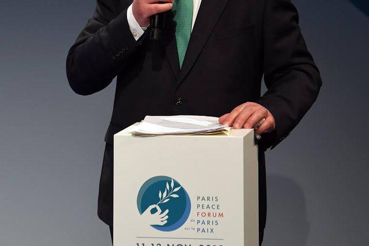 مشاركة رئيس الوزراء الفلسطيني، رامي الحمدالله اليوم ونيابة عن فخامة الأخ الرئيس محمود عباس في العاصمة الفرنسية باريس، في منتدى باريس للسلام بمناسبة الذكرى 100 لانتهاء الحرب العالمية الأولى.