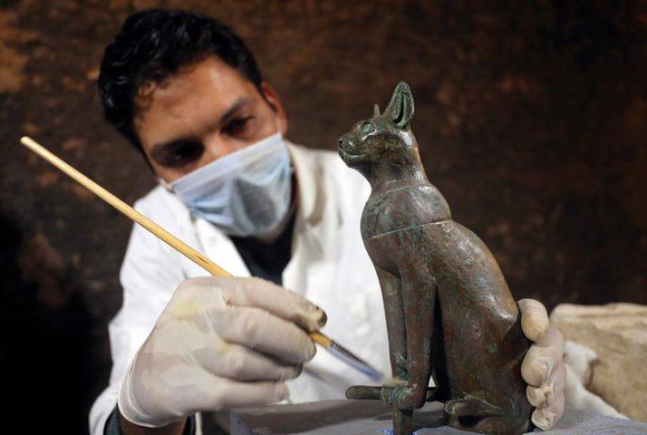 """اكتشاف مقابر لـ""""قطط محنطة"""" في مصر"""