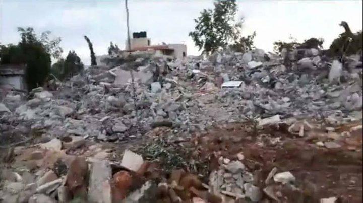 محافظة جنين تعيد بناء منازل آل جرار