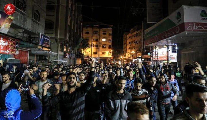 مسيرات بغزة دعما للفصائل في مواجهة عدوان الإحتلال