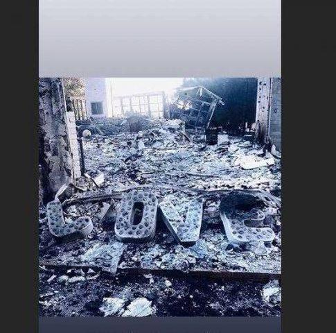 نجمة شهيرة تفقد منزلها الفخم خلال ساعات