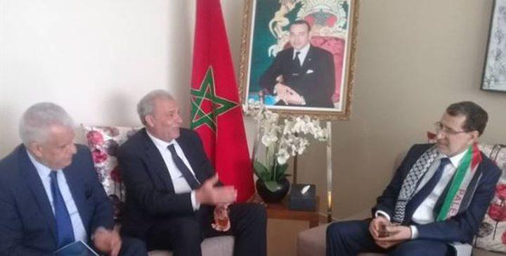 أبو عمرو يلتقي رئيس الوزراء المغربي