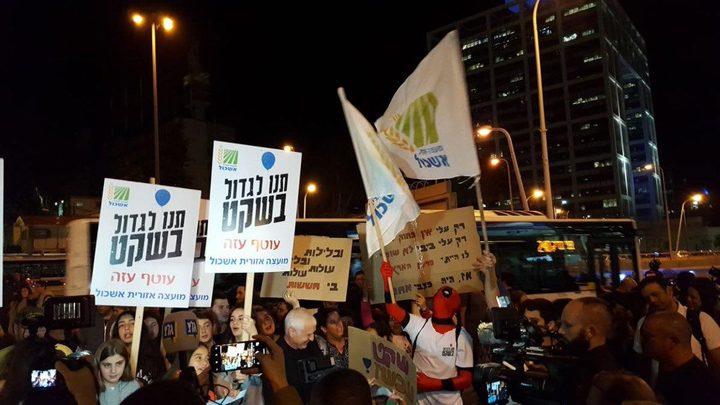 مستوطنون يتظاهرون في تل ابيب ضد وقف التصعيد بغزة