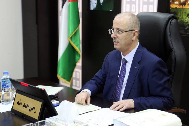 مجلس الوزراء خلال جلسته الأسبوعية التي عقدها في مدينة رام الله اليوم الخميس.