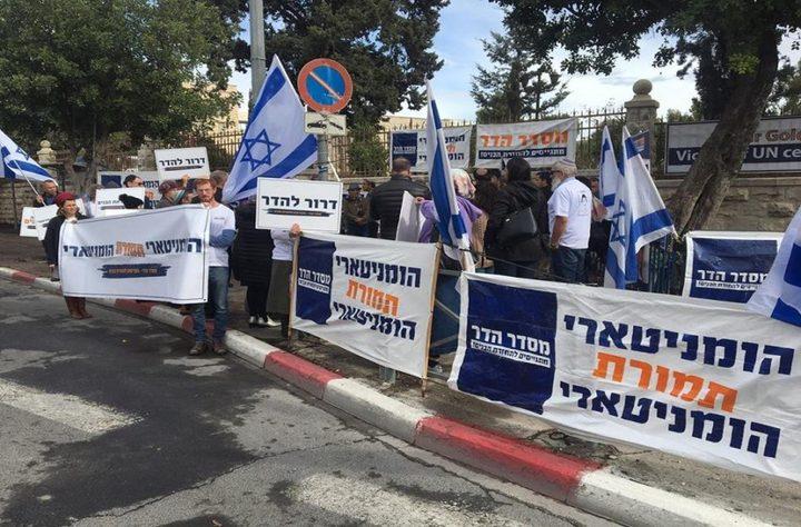 """تجدد احتجاجات المستوطنين أمام منزل """"نتنياهو"""""""