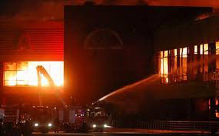 انفجار وحريق في مبنى شمال غربي موسكو