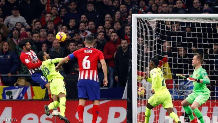 ديمبيلي يجنب برشلونة السقوط في معقل أتلتيكو