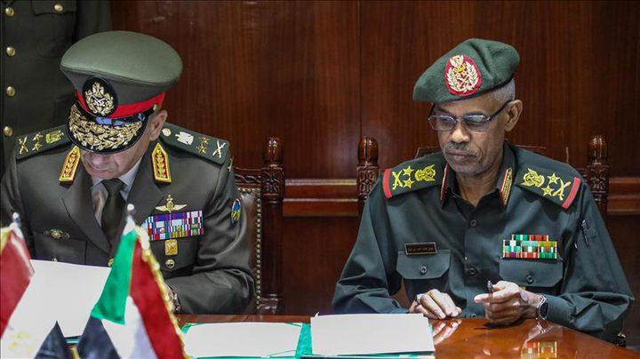 اتفاق مصري سوداني على تشكيل قوات مشتركة
