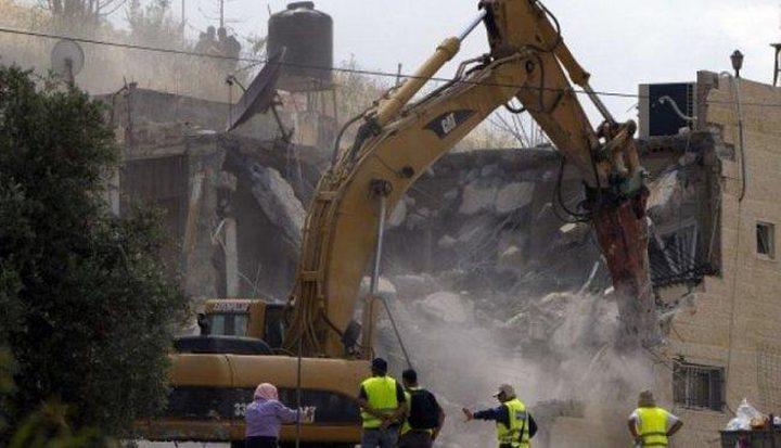 الاحتلال يهدم منزلًا في تجمع مريحة جنوب غرب جنين