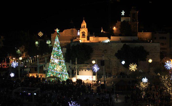 إنارة شجرة الميلاد السبت المقبل بساحة المهد