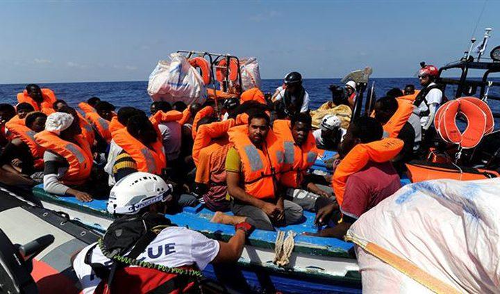 البحرية الليبية: إنقاذ أكثر من 100 مهاجر غير شرعي