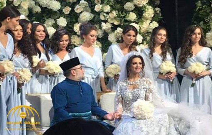 ملك ماليزيا يتزوج ملكة جمال موسكو