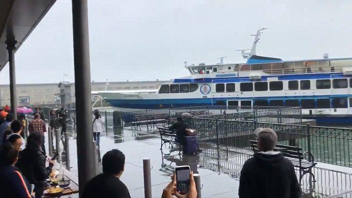 سفينة سياحية تصطدم بميناء في سان فرانسيسكو