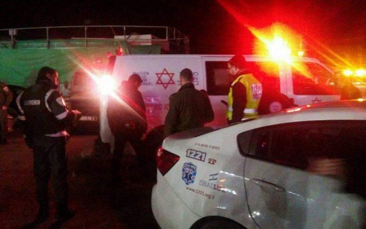 إصابة مستوطن بجراح جراء رشقه بالحجارةشمال رام الله