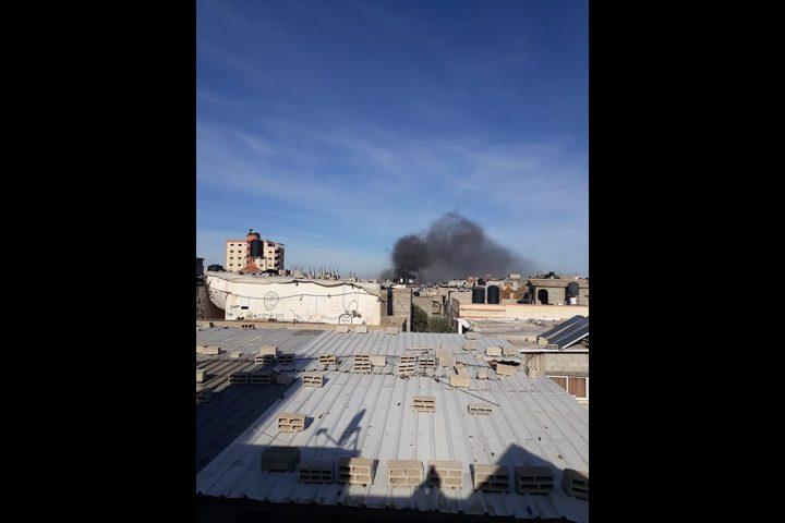 انفجار ضخم يهز منطقة البريج وسط قطاع غزة