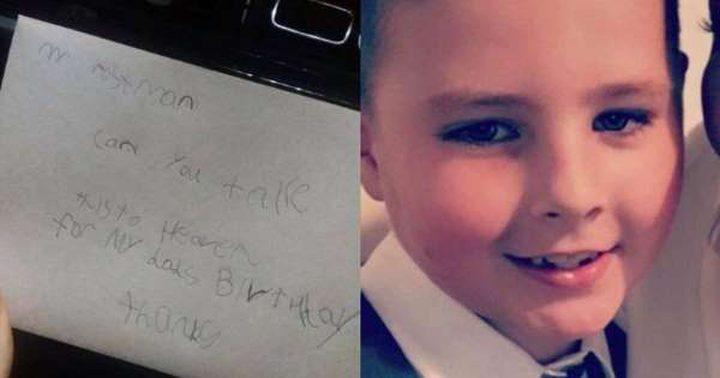 """""""مفاجئة سارة"""" لطفل أرسل رسالة لوالده المتوفى"""