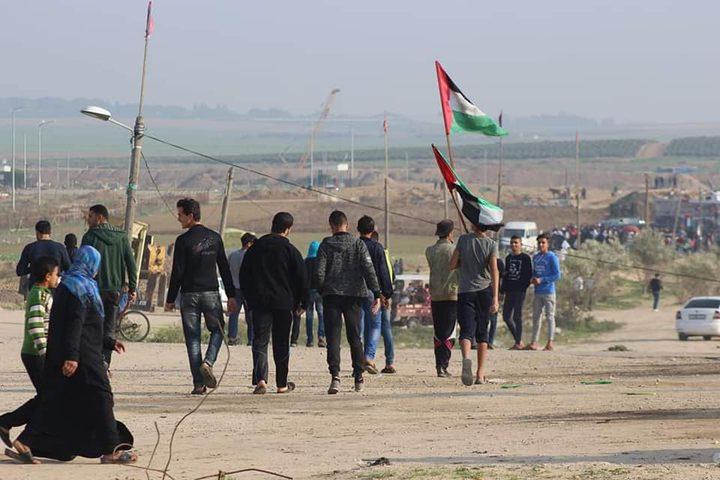 18إصابة بالرصاص الحي وبالاختناق شرق غزة