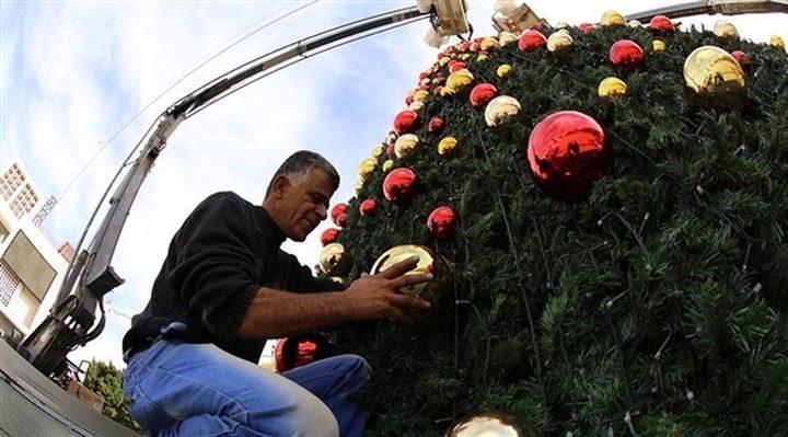 بيت لحم: تواصل الاستعدادات لإضاءة شجرة الميلاد