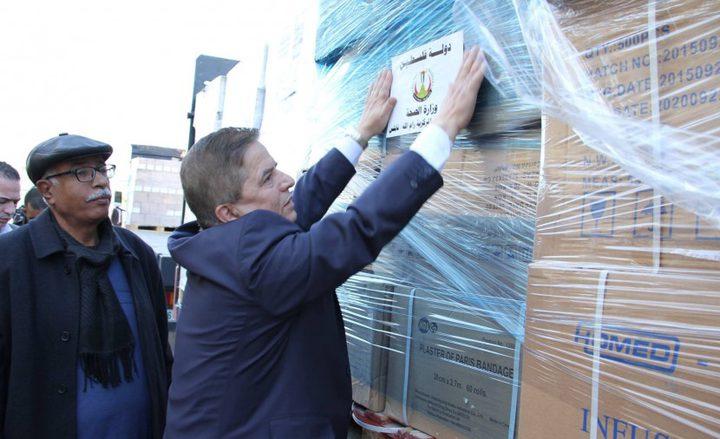 """""""الصحة"""" ترسل شحنة أدوية إلى قطاع غزة بدعم تركي"""