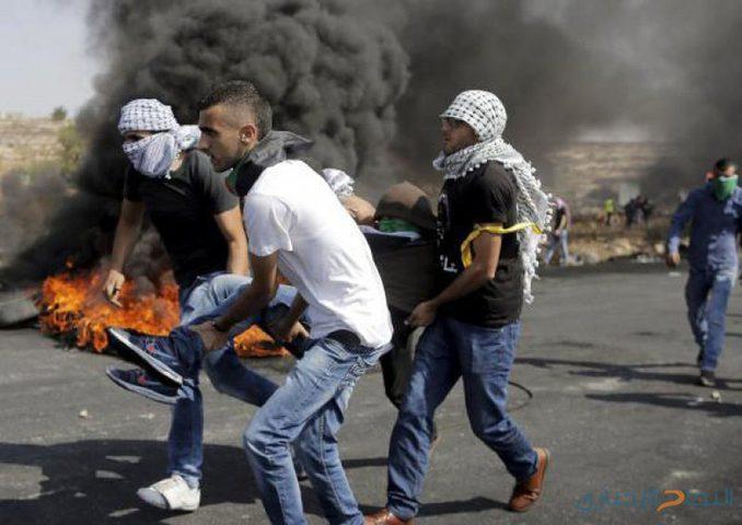 19 إصابة بمواجهات مع الاحتلال على حاجز حوارة