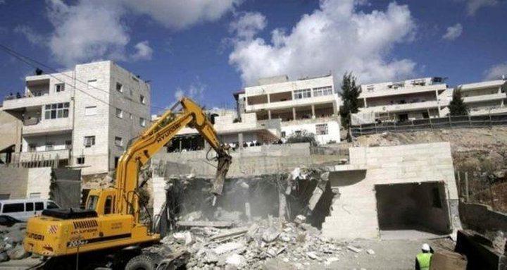 الاحتلال يهدم منزلاً قيد الإنشاء في القدس