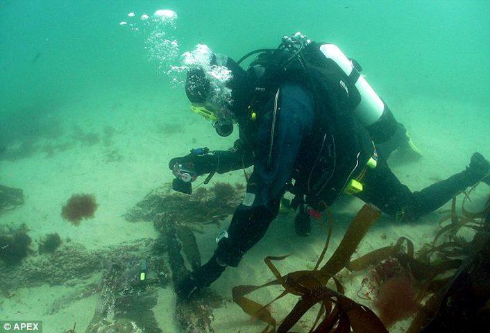 قطع خشبية نادرة في حطام سفينة غرقت منذ أكثر من 300