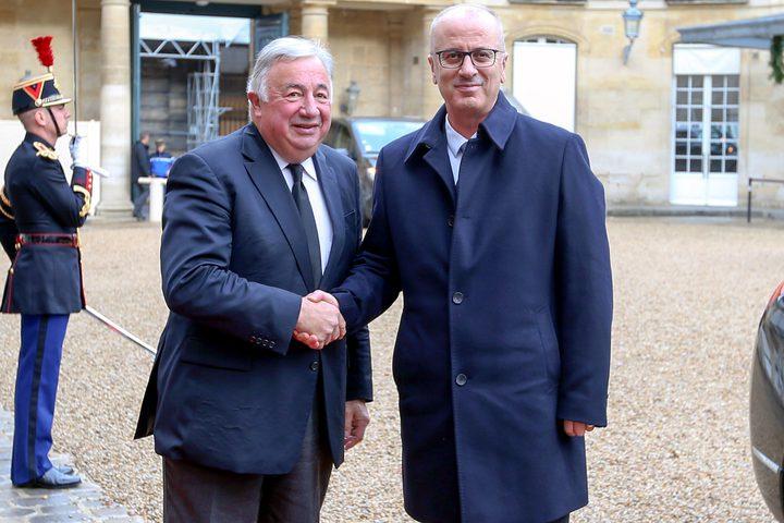 الحمد الله يلتقي رئيس مجلس الشيوخ الفرنسي ورؤساء اللجان فيه