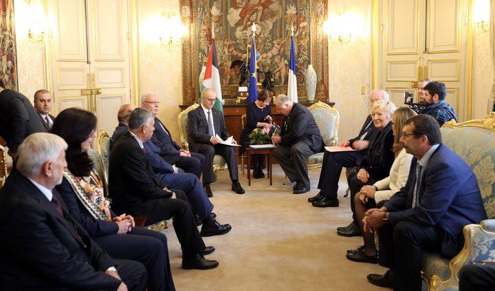 الحمد الله يلتقي رئيس مجلس الشيوخ الفرنسي