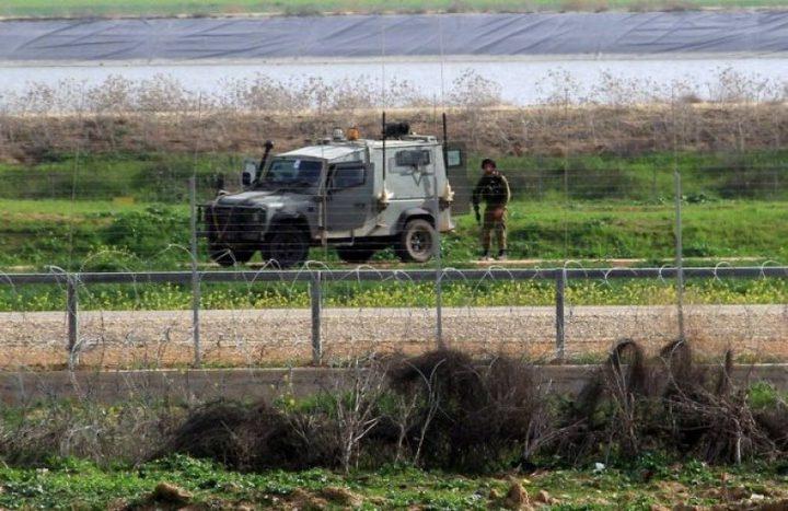 أضرار بجيب عسكري للاحتلال الاسرائيلي شرق قطاع غزة
