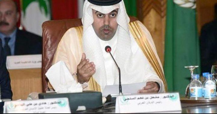 السلمي رئيسا للبرلمان العربي لدورة ثانية