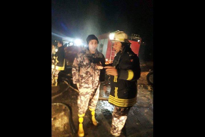 الدفاع المدني يخمد حريقًا في يعبد جنوب جنين