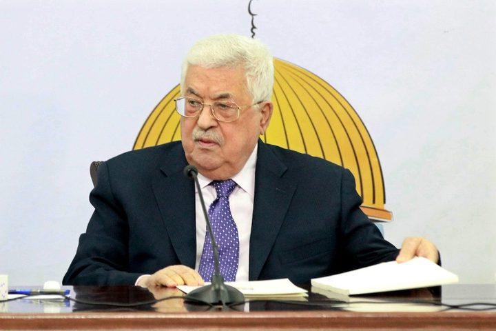 الرئيس الفلسطيني محمود عباس يرأس اجتماعًا للمجلس الاستشاري لحركة فتح في مدينة رام الله بالضفة الغربية في 9 ديسمبر 2018.