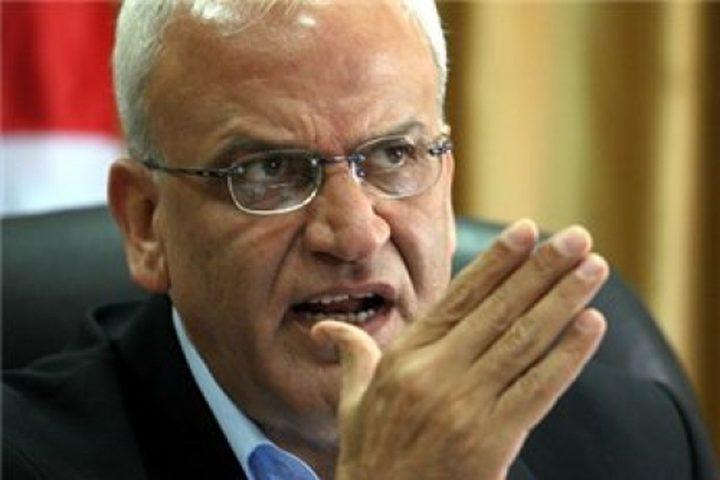 عريقات يطالب المجتمع الدولي بمحاسبة الاحتلال