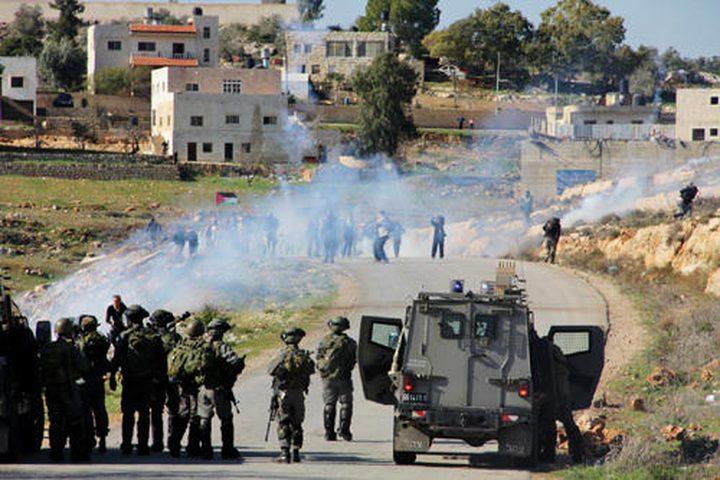 إصابة أربعة مواطنين بالرصاص المعدني في النبي صالح