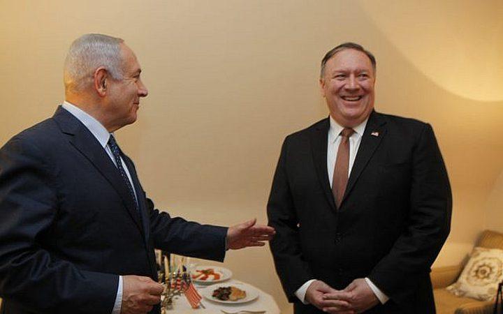 """""""بومبيو"""" يرفض طلب """"نتنياهو"""" بفرض عقوبات على بيروت"""