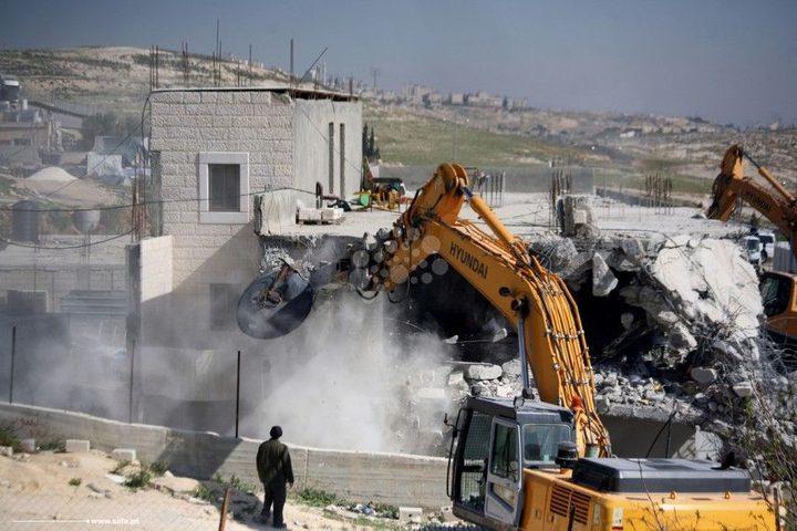 انتهاء مهلة الاحتلال لمنزل أبو حميد تمهيدا للهدم