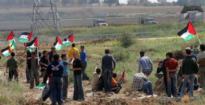 75 إصابة بينهم صحفيين و7 مسعفين خلال مسيرات سلمية شرق غزة