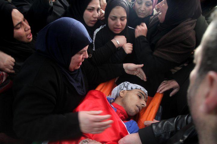 تشييع جثمان الشهيد محمد نخلة بمخيم الجلزون